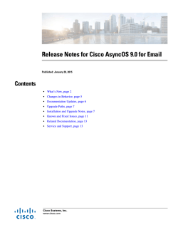 Cisco AsyncOS 9.0 for Email Release Notes