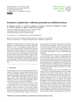 Estimates of global dew collection potential on artificial surfaces