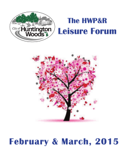 Senior Leisure Forum - City of Huntington Woods