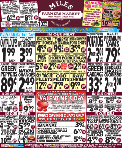 Weekly Specials - Miles Farmers Market