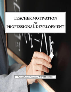 teacher motivation professional development - MSP-MAP