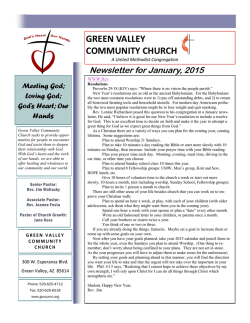 the New Year in PRAYER - Green Valley Community Church