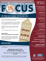 current newsletter - Community Focus Credit Union