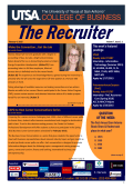 COB Recruiter - UTSA College of Business