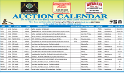See full auction ads in the Sunday Home Section