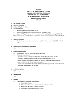 Current Agenda - City of the Village of Douglas