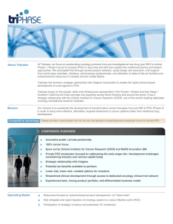 Download Triphase Fact Sheet - Triphase Accelerator Corporation