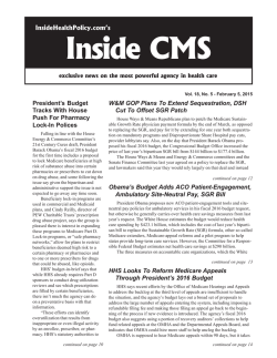 Inside CMS - InsideHealthPolicy.com
