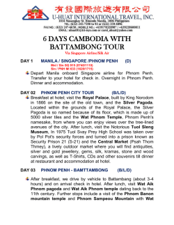 6d cambodia with battambong tour - about u