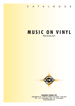 MUSIC ON VINYL - Controleer cddirect.nl