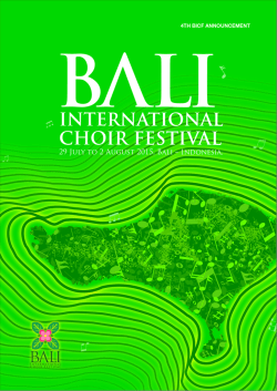 4th Bali International Choir Festival 2015