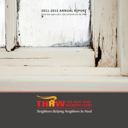 2011-2012 ANNUAL REPORT - The Heat and Warmth Fund