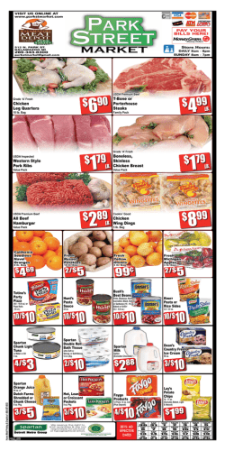 Weekly Ad - Park Street Market