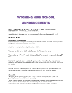 wyoming high school announcements