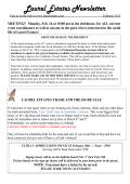 Laurel Estates Newsletter