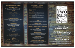 the complete market menu - Two Men And an Appetite