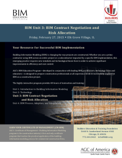 BIM Contract Negotiation and Risk Allocation