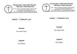 order of service - Cirencester Ashcroft Church
