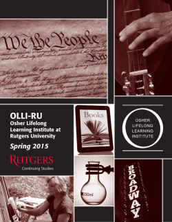 Spring 2015 Catalog - Osher Lifelong Learning Institute