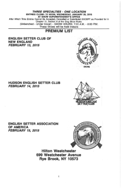 English Setter Club of New England