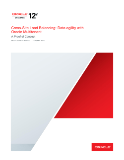 Cross-Site Load Balancing: Data Agility with Oracle Multitenant