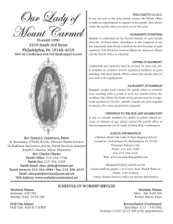 Our Lady of Mount Carmel - John Patrick Publishing Company