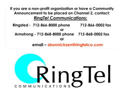 Check It Out! - Ringsted Telephone Company