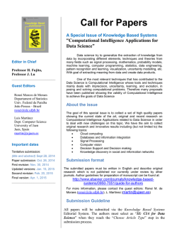 Computational Intelligence Applications for Data Science