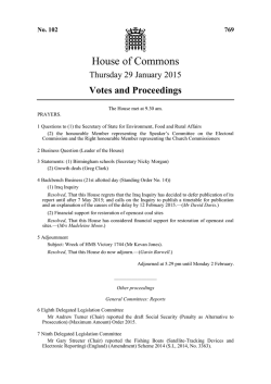 House of Commons - publications.parliament