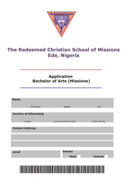 Download BA Application Form - The Redeemed Christian School of