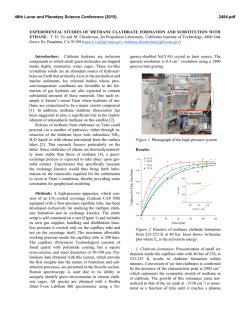 Experimental Studies of Methane Clathrate Formation and
