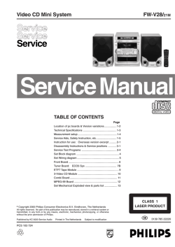 Service Manual FW-V28 - Driver download Dll service manual user