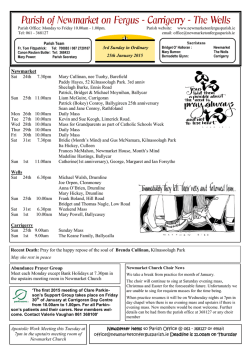 Current Parish Newsletter (PDF) - Newmarket-on