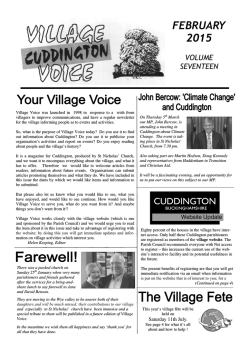 FEBRUARY 2015 - the Cuddington Village website