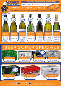 BEER SUPER SPECIALS - Liquor Home Delivery of