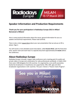 Info for speakers - Radiodays Europe