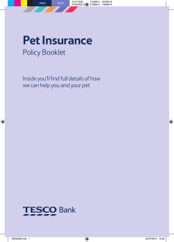 Pet Insurance Policy Booklet