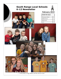 February 2015 Newsletter - South Range Local School District
