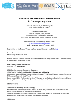 here - Islamic Reformulations