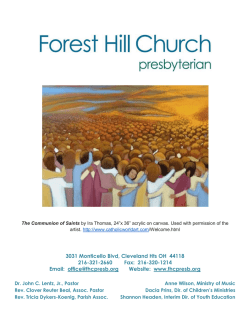 February 1, 2015 - Forest Hill Presbyterian Church