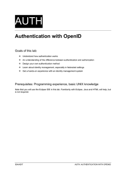 Authentication with OpenID