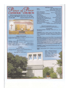 Weekly Bulletin - Prince of Peace Catholic Church