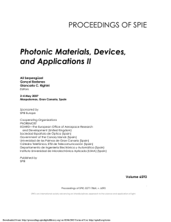 Photonic Materials, Devices, and Applications II