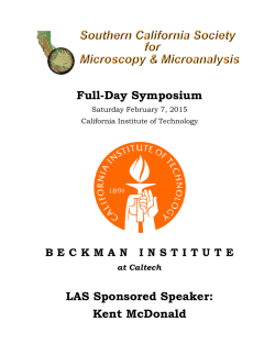 SCSMM - February 7, 2015 Spring Symposium Announcement