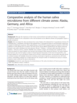 Comparative analysis of the human saliva microbiome from different