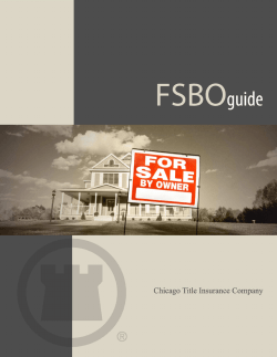 For Sale By Owner Guide - Chicago Title Insurance Company