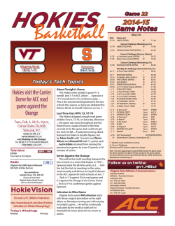 2014-15 Game Notes HokieVision