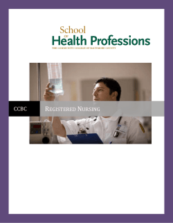 Registered Nursing Program - The Community College of Baltimore