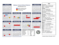 Academic Year Calendar - Malone Central School District