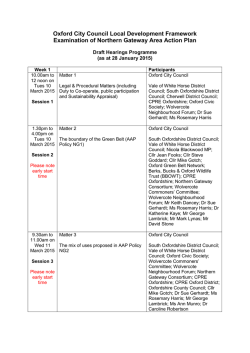 Draft Hearings Programme as at 28 January 2015